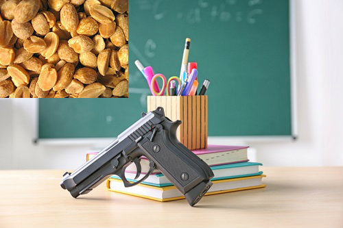 Armed U.S. teacher arrested for carrying gun containing trace amounts of peanut