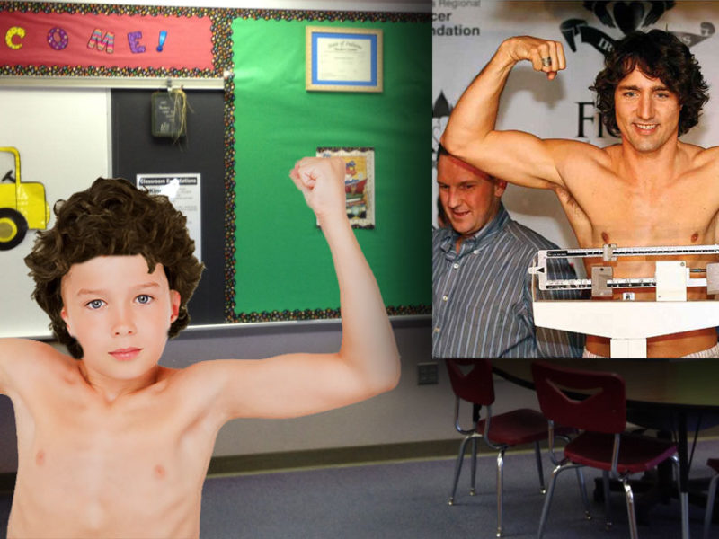 Shirtless And Marching To His Own >> Shirtless Boy Going Out On Halloween As Justin Trudeau The Beaverton