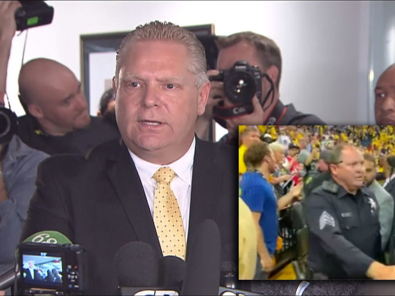 Doug Ford demands officer who carded Masai Ujiri be allowed to march in Raptors parade