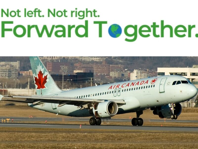 Green Party asks plane they're flying on to remove left, right wings to adhere to party's message