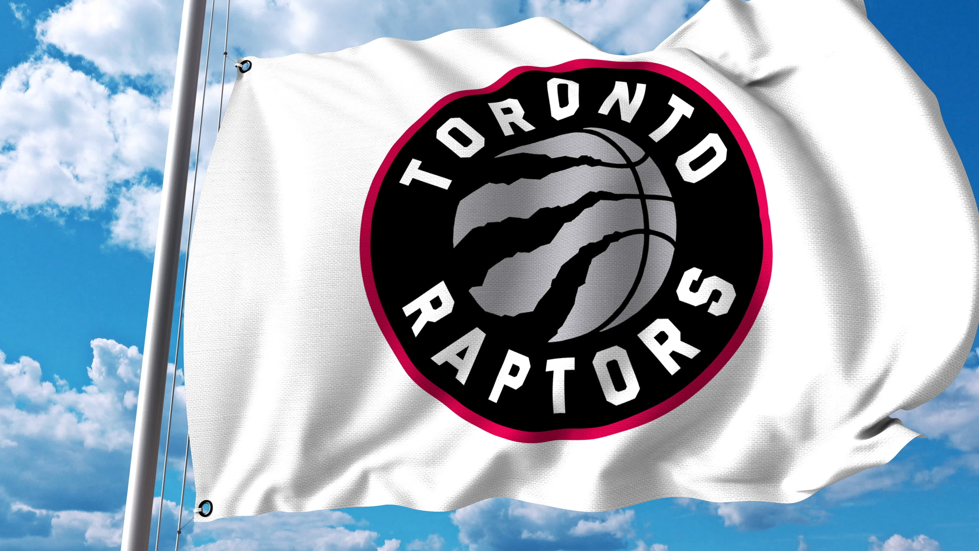 In preparation for Florida move Raptors replace logo with image of shirtless man shooting fireworks at an Alligator