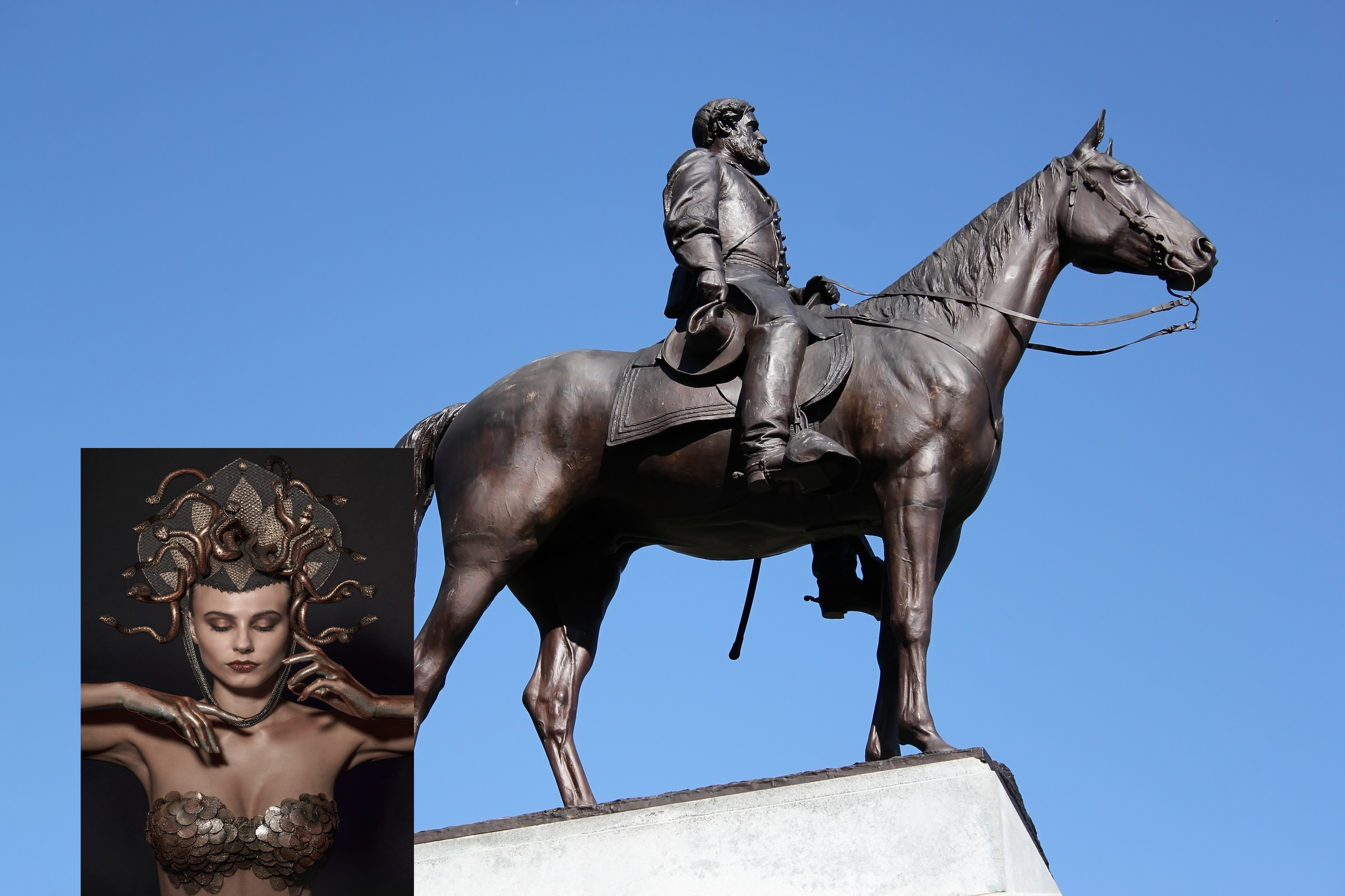 Medusa makes more statues of racists to replace old statues of racists